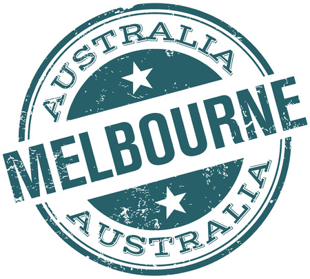 Melbourne Stempel Standard-Bild - 31827411