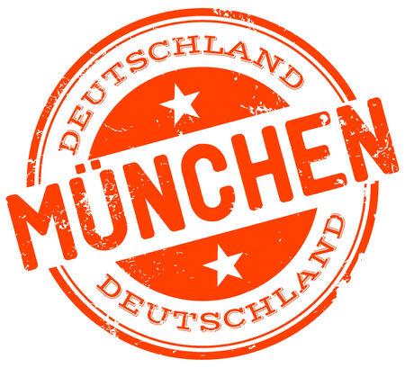 m�nchen: münchen stempel Stock Illustratie