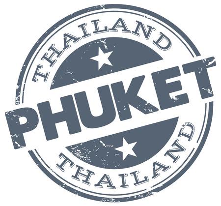 phuket stamp Vector