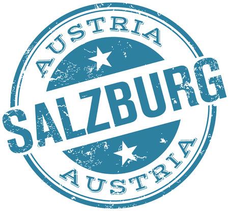salzburg stamp Vector