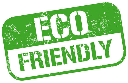 environmentalist label: eco friendly stamp