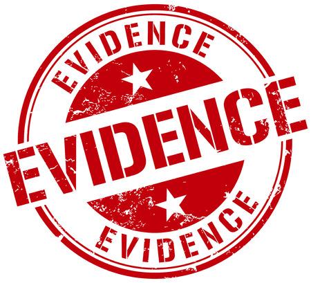 証拠のスタンプ