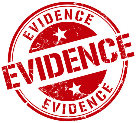 evidence stamp Vector