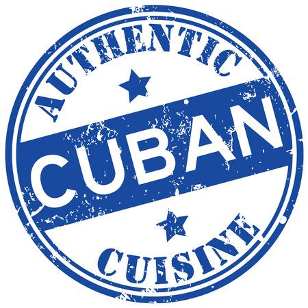 Cubaanse gerechten stempel Stock Illustratie