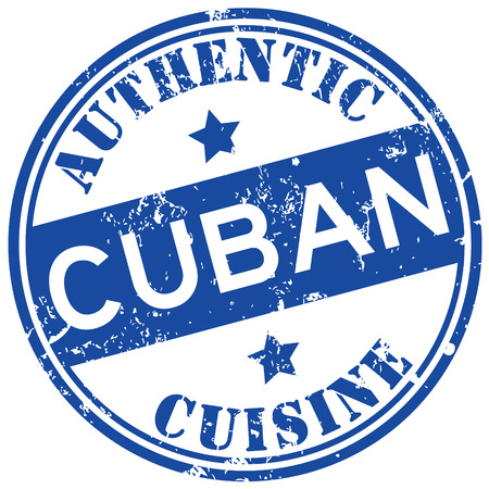 cuban cuisine stamp Illustration
