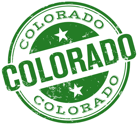 colorado: colorado stamp Illustration