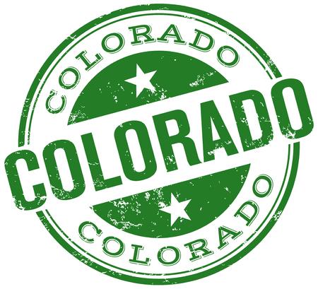colorado state: colorado stamp Illustration
