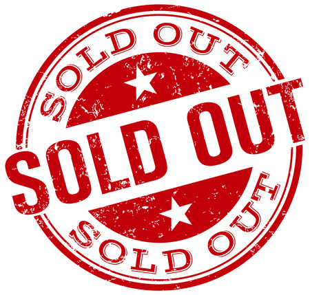 sold out: sold out rubber stamp