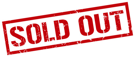sold out stamp Vectores