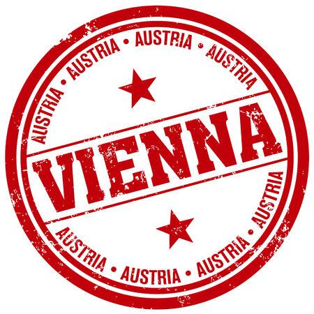 vienna stamp Vector