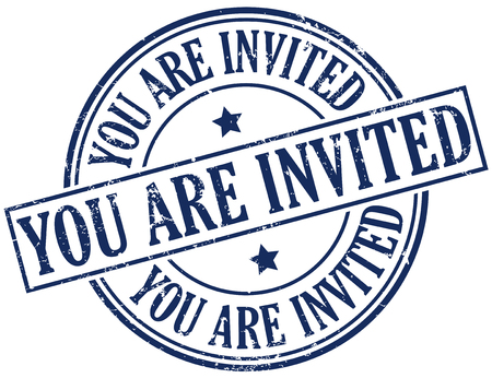 invited: you are invited stamp