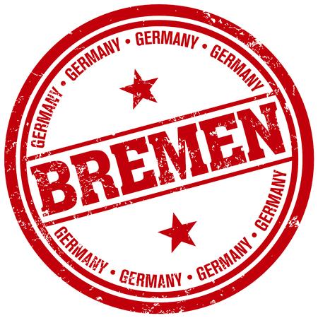 bremen: bremen stamp Illustration