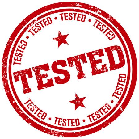 tested: tested rubber stamp Illustration