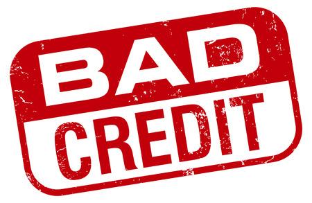bad credit stamp Vettoriali
