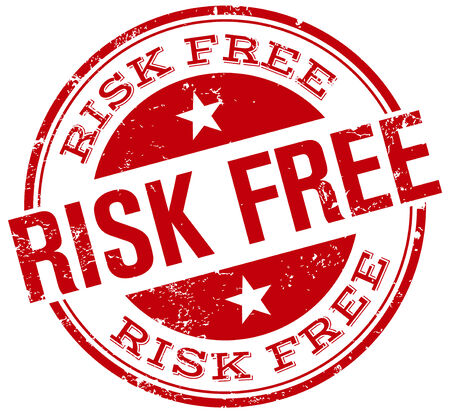 Risk Free: risk free stamp Illustration