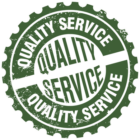 quality service stamp Vector