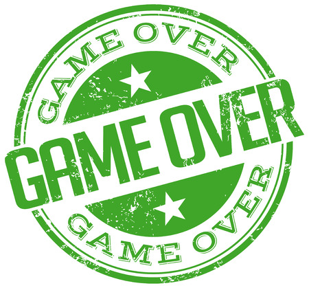 game over: game over stamp