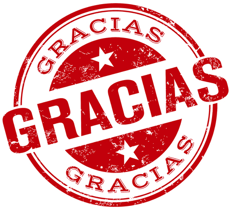 you are welcome: gracias stamp
