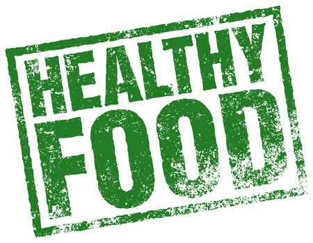 Gesunde Ernährung Stempel Standard-Bild - 32999059