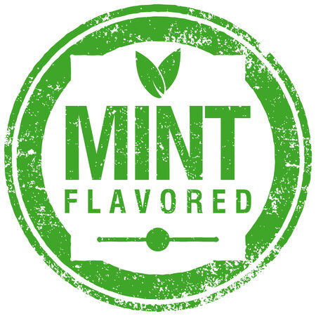 pastil: mint flavored stamp Illustration