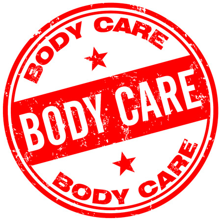 body care stamp Ilustração