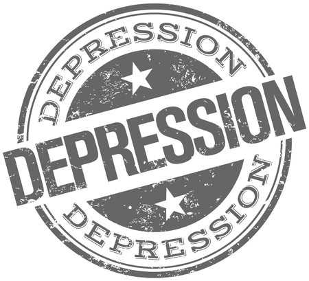 pessimist: depression stamp