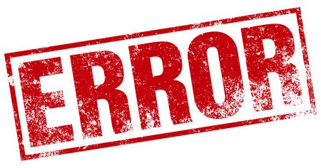 error: error stamp