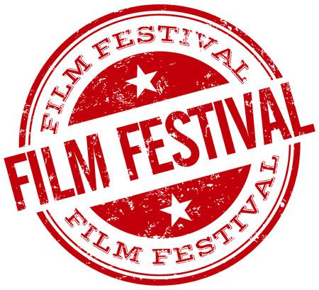 film festival stamp Ilustração