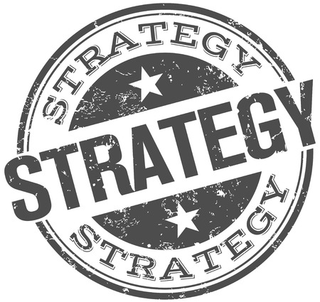 strategical: strategy stamp Illustration