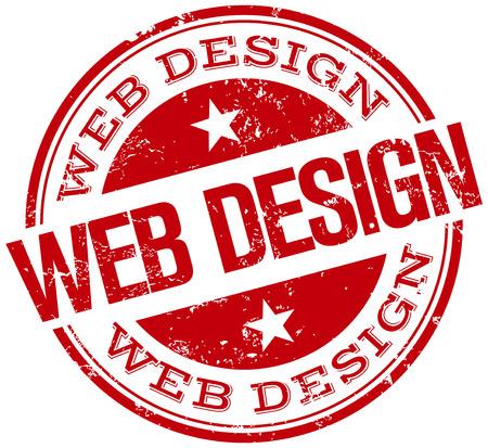 web design stamp Vettoriali