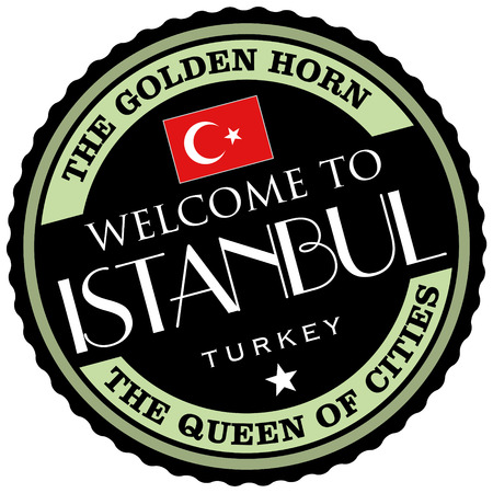 best travel destinations: istanbul label