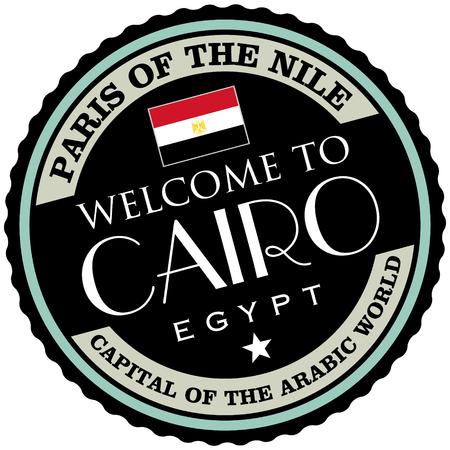 cairo: cairo label Illustration