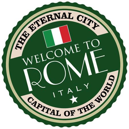best travel destinations: rome label Illustration
