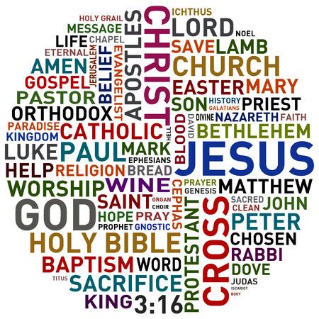 sacrificio: palabras religiosas collage