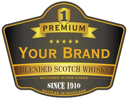 soctch whisky label Vettoriali