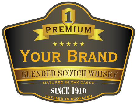 scotch whisky: soctch whisky label Illustration
