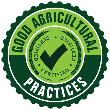 good agricultural practices label Stock Illustratie