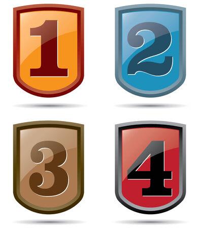 escarapelas: rosetas de números