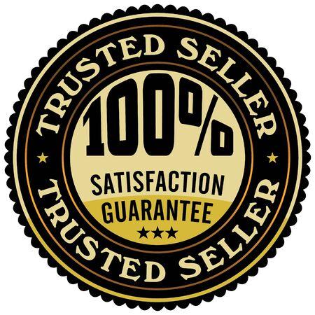 vertrouwde verkoper icoon