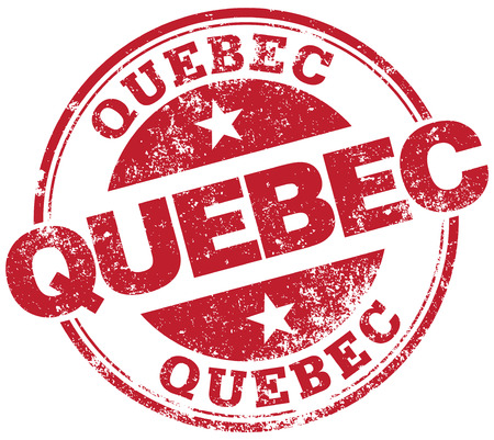 quebec: quebec rubber stamp Illustration