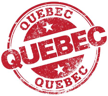 canada stamp: quebec rubber stamp Illustration