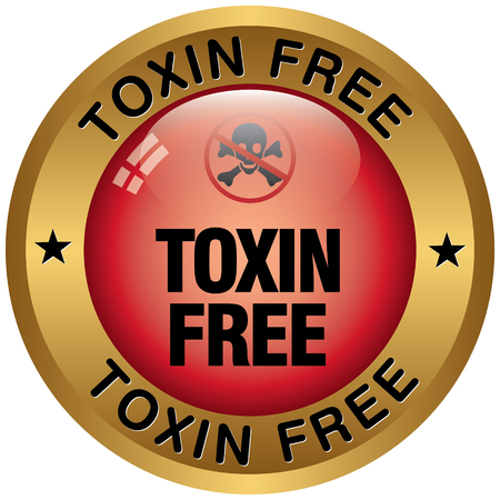 toxin: toxin free icon Illustration