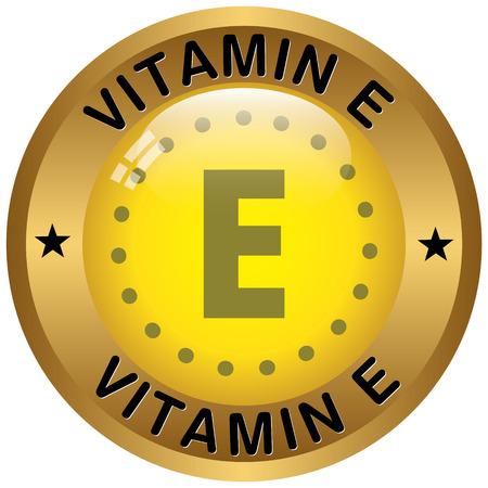 Vitamin-E-Symbol Standard-Bild - 37505143