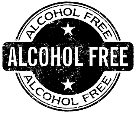 no sign: alcohol free stamp Illustration