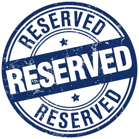 reserved: reserved stamp Illustration