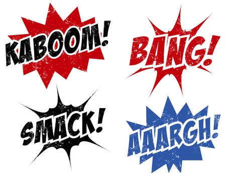 kaboom: comic words stamps