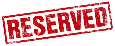 reservations: reserved stamp Illustration