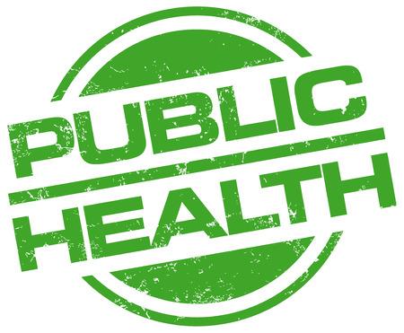 salud publica: sello de la salud p�blica Vectores