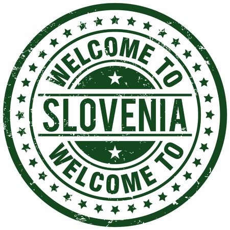 slovenia: welcome to slovenia Illustration