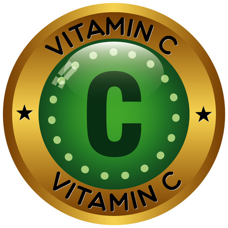 vitamin c: vitamin c icon Illustration